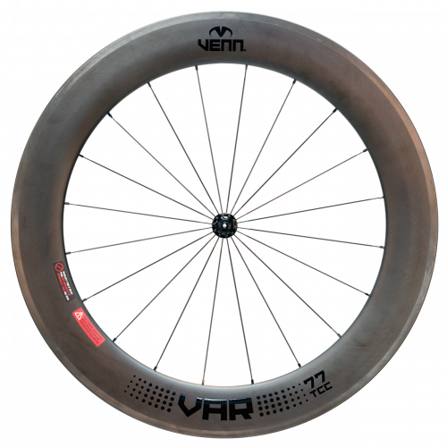 Venn Var 77 TCC filament wound tubeless clincher rim brake bike deep section 77mm carbon wheels
