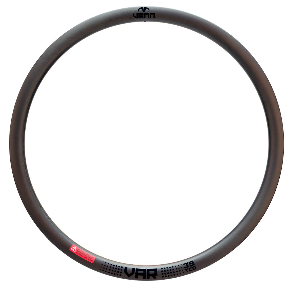 Venn Var 35 TCD filament wound tubeless clincher road disc brake bike 35mm carbon rim