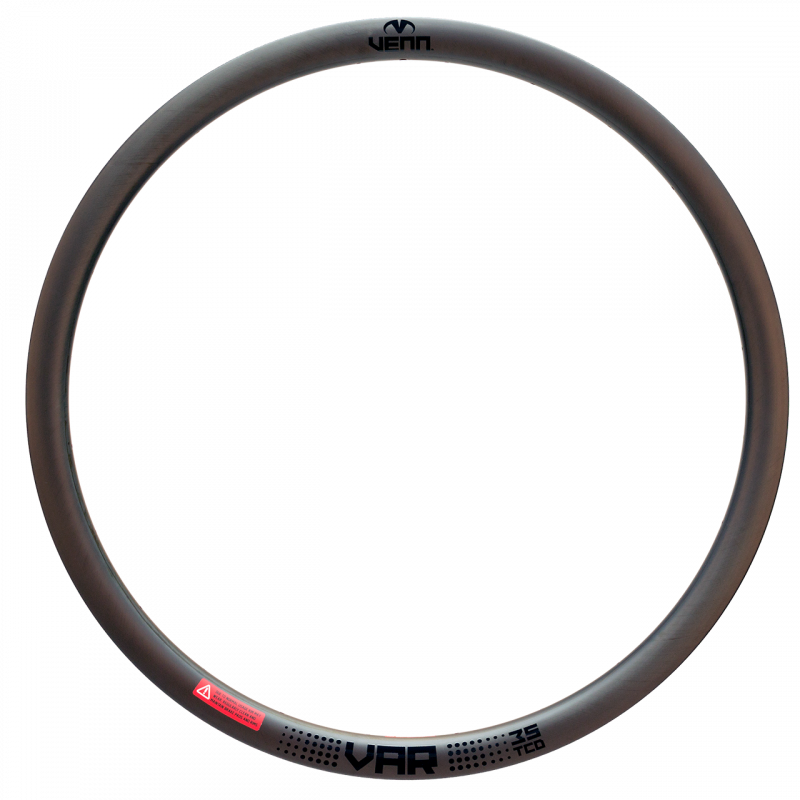 Venn Var 35 TCD filament wound tubeless clincher road disc brake bike 35mm carbon rim