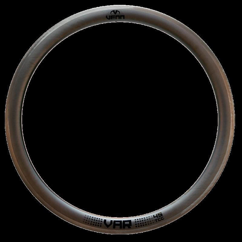 Venn Var 45 TCC filament wound tubeless clincher rim brake bike carbon rim