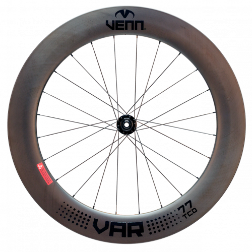 Venn VAR 77 TCD disk brake compatible filament wound carbon wheels