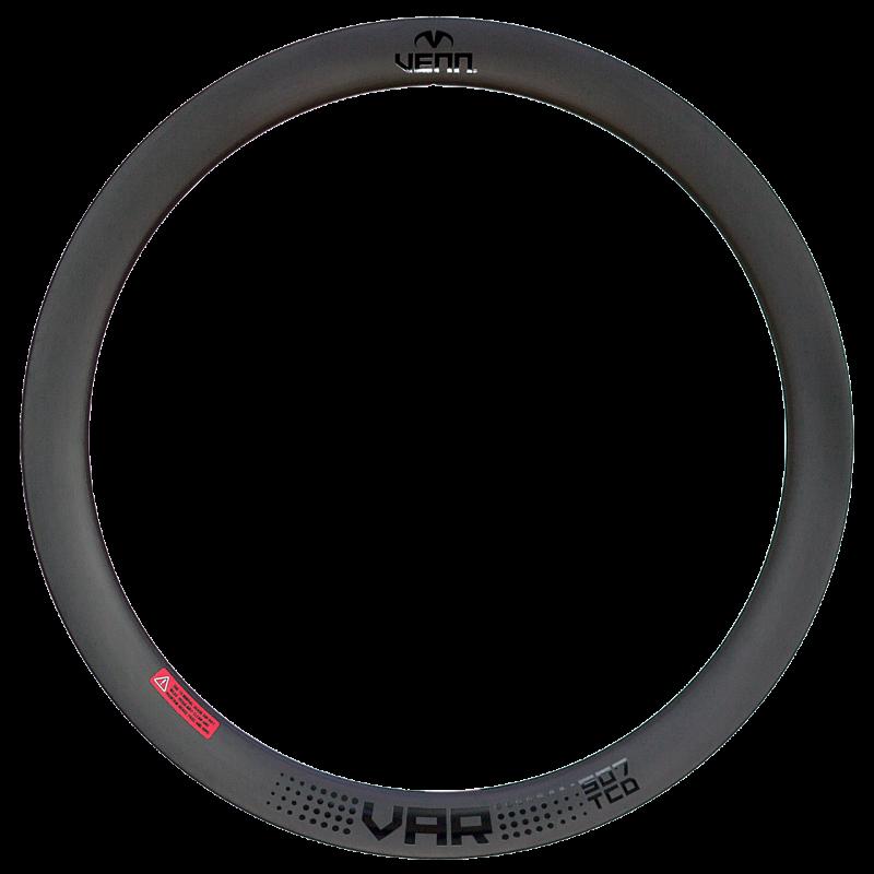 Venn Var 507 TCD filament bobiné tubeless pneu route frein à disque vélo 50mm jante carbone