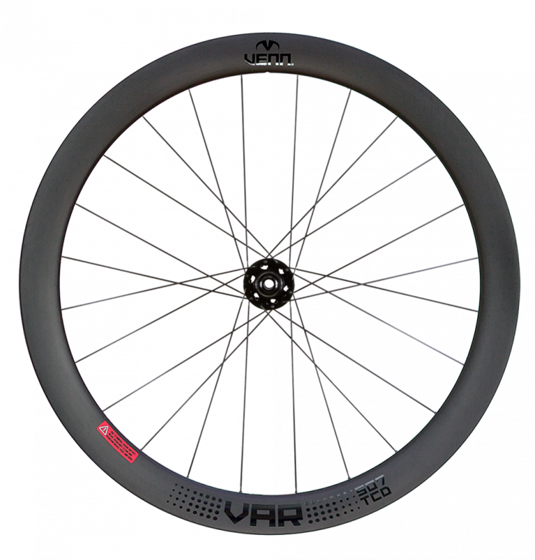 Venn Var 507 TCD filament wound tubeless clincher road disc brake bike 50mm carbon wheels