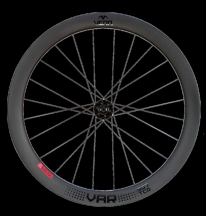 Venn Var 507 TCD filament wound tubeless clincher road disc brake bike 50mm carbon wheels