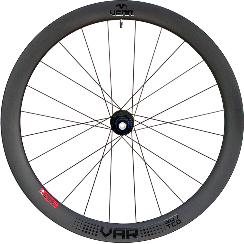 Venn Var 507 TCD Filament wound disc brake tubeless compatible clincher wheels