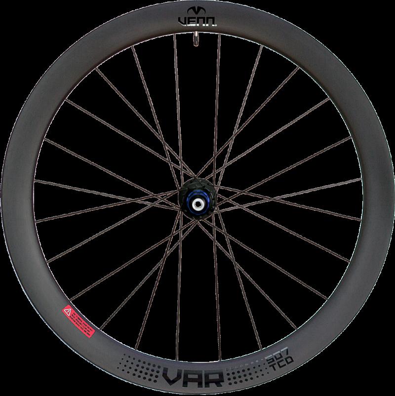 Venn Var 507 TCD filament wound disc brake tubeless compatible clincher wheels