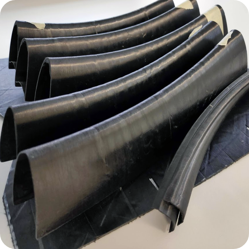 Venn carbon fiber reinforced thermoplastic rim sections