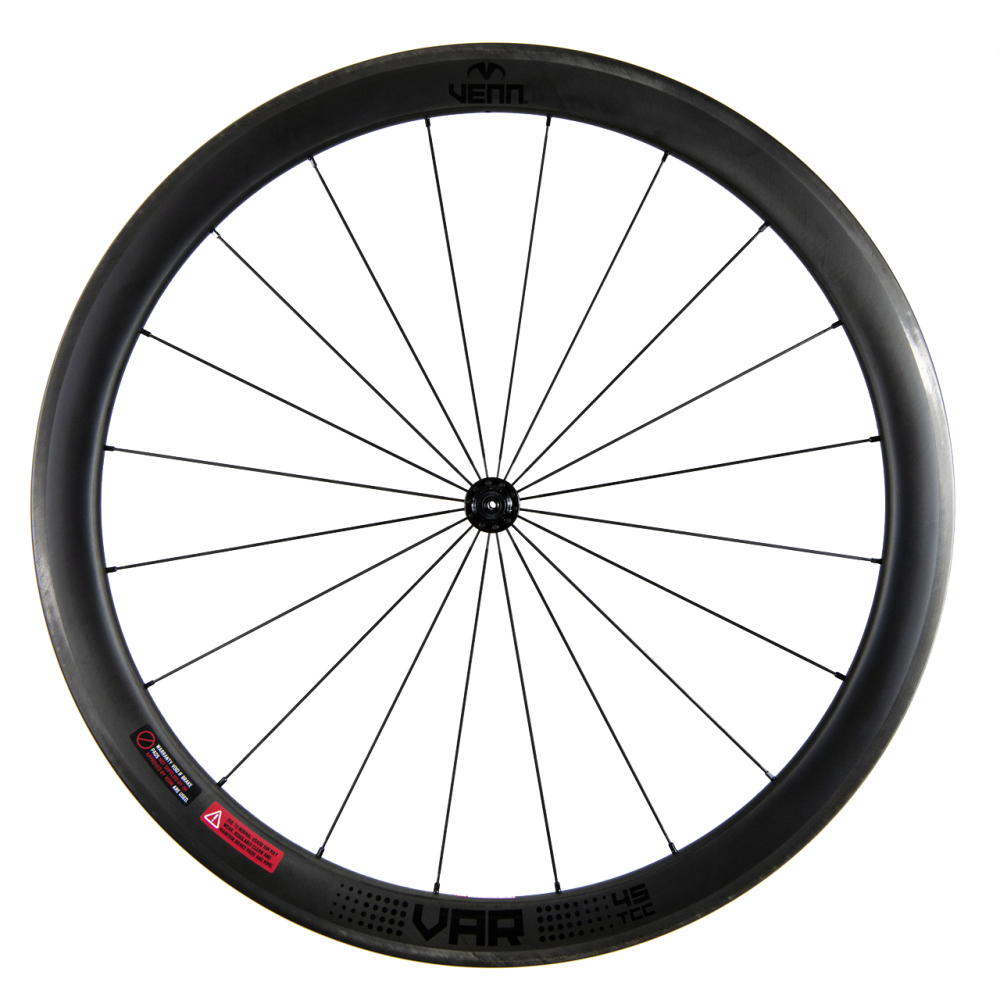 Venn Var 45 TCC filament wound tubeless clincher rim brake bike 45mm carbon wheels