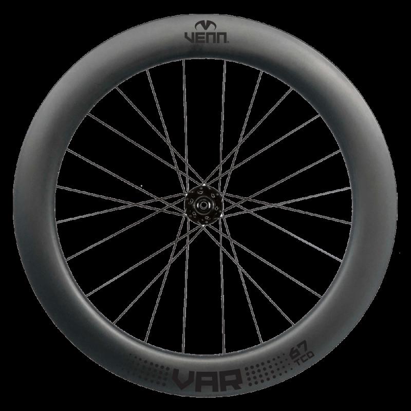 Venn Var 67 TCD filament wound carbon wheels - front wheel