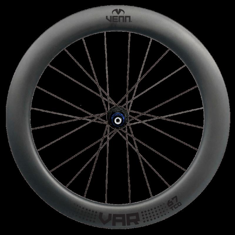 Venn Var 67 TCD filament wound carbon wheels - rear wheel